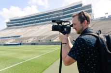 Me shooting video at Penn State Media Day