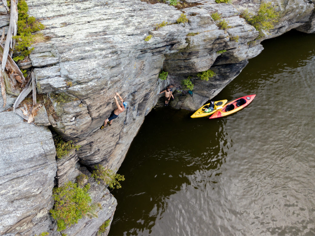 deep water soloing the cove